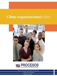 Clima organizacional (clio)