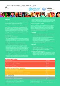 CLIMATE AND HEALTH COUNTRY PROFILE 2015 EGYPT