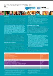 CLIMATE AND HEALTH COUNTRY PROFILE 2015 FIJI