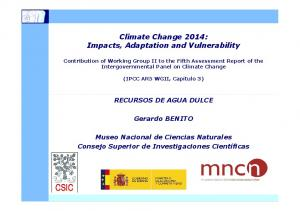 Climate Change 2014: Impacts, Adaptation and Vulnerability