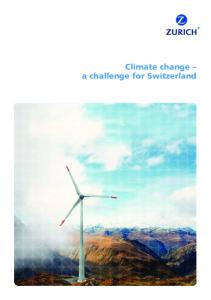 Climate change a challenge for Switzerland