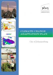 Climate Change Adaptation Plan. City of Johannesburg