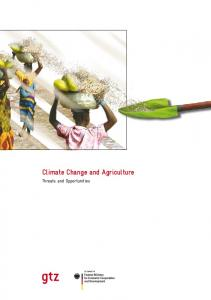 Climate Change and Agriculture. Threats and Opportunities