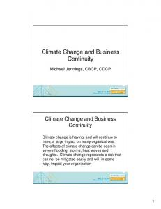 Climate Change and Business Continuity