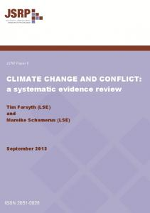 CLIMATE CHANGE AND CONFLICT: a systematic evidence review