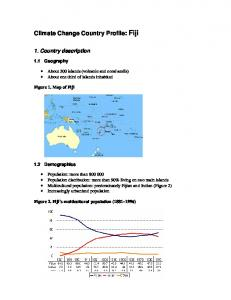 Climate Change Country Profile: Fiji