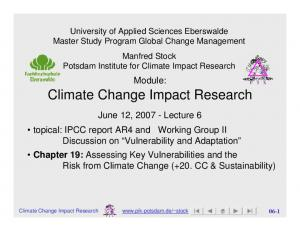 Climate Change Impact Research