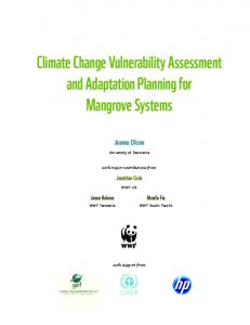 Climate Change Vulnerability Assessment and Adaptation Planning for Mangrove Systems