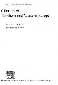 Climates of Northern and Western Europe