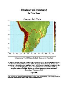Climatology and Hydrology of the Plata Basin