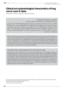 Clinical and epidemiological characteristics of lung cancer cases in Qatar