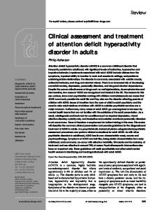 Clinical assessment and treatment of attention deficit hyperactivity disorder in adults