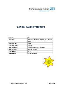 Clinical Audit Procedure