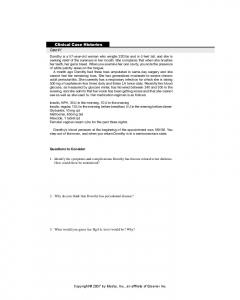Clinical Case Histories Case #1
