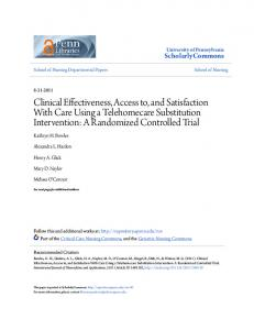 Clinical Effectiveness, Access to, and Satisfaction With Care Using a Telehomecare Substitution Intervention: A Randomized Controlled Trial