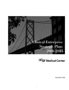 Clinical Enterprise Strategic Plan: