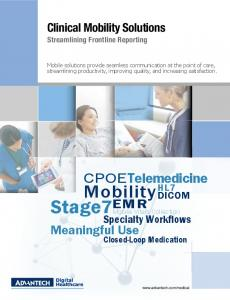 Clinical Mobility Solutions Streamlining Frontline Reporting