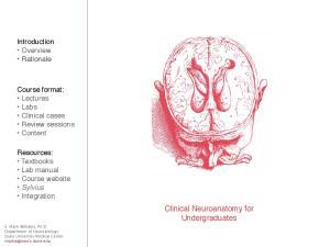 Clinical Neuroanatomy for Undergraduates