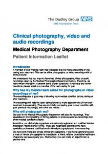 Clinical photography, video and audio recordings