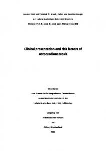 Clinical presentation and risk factors of osteoradionecrosis
