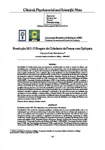 Clinical, Psychosocial and Scientific Note
