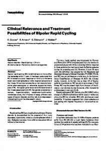 Clinical Relevance and Treatment Possibilities of Bipolar Rapid Cycling