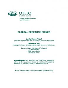 CLINICAL RESEARCH PRIMER