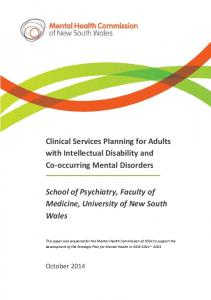 Clinical Services Planning for Adults with Intellectual Disability and Co-occurring Mental Disorders