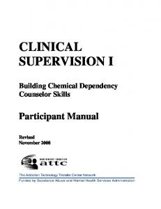 CLINICAL SUPERVISION I