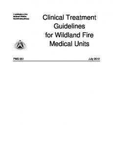 Clinical Treatment Guidelines for Wildland Fire Medical Units