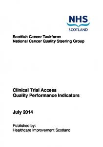 Clinical Trial Access Quality Performance Indicators
