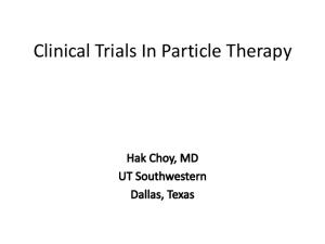 Clinical Trials In Particle Therapy