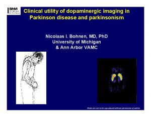 Clinical utility of dopaminergic imaging in Parkinson disease and parkinsonism