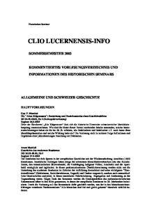 CLIO LUCERNENSIS-INFO