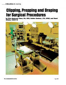 Clipping, Prepping and Draping for Surgical Procedures