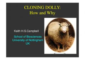 CLONING DOLLY: How and Why