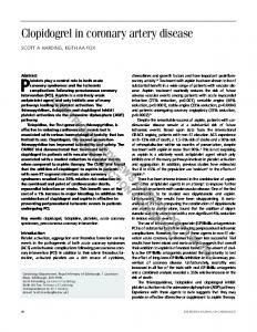 Clopidogrel in coronary artery disease