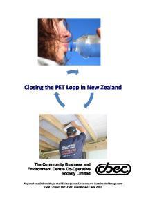 Closing the PET Loop in New Zealand