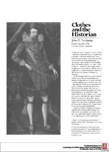 Clothes and the Historian