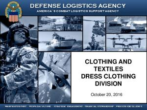 CLOTHING AND TEXTILES DRESS CLOTHING DIVISION