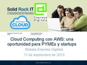 Cloud Computing con AWS: una oportunidad para PYMEs y startups