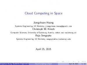 Cloud Computing in Space