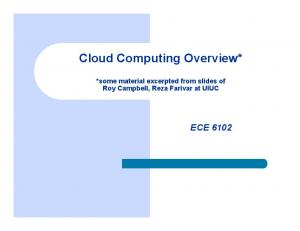 Cloud Computing Overview*