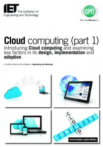 Cloud computing (part 1)