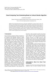 Cloud Computing Task Scheduling Based on Cultural Genetic Algorithm