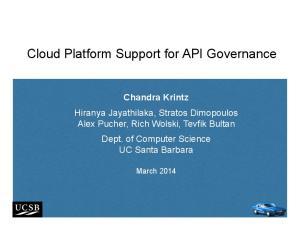 Cloud Platform Support for API Governance