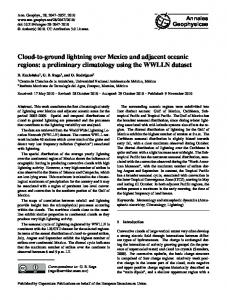 Cloud-to-ground lightning over Mexico and adjacent oceanic regions: a preliminary climatology using the WWLLN dataset