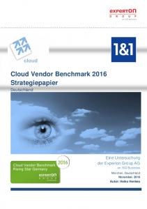 Cloud Vendor Benchmark 2016 Strategiepapier