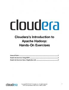 Cloudera s Introduction to Apache Hadoop: Hands-On Exercises