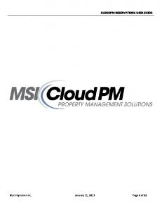 CLOUDPM RESERVATIONS USER GUIDE